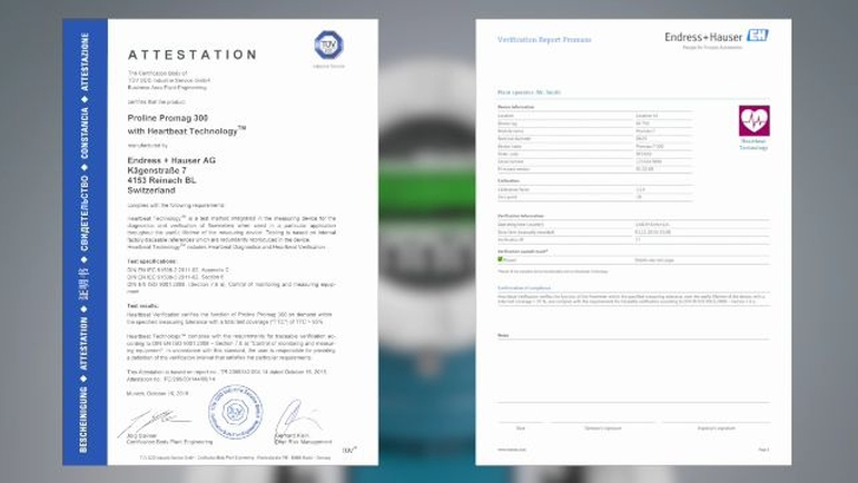 Screenshot photo of: Attestation TÜV