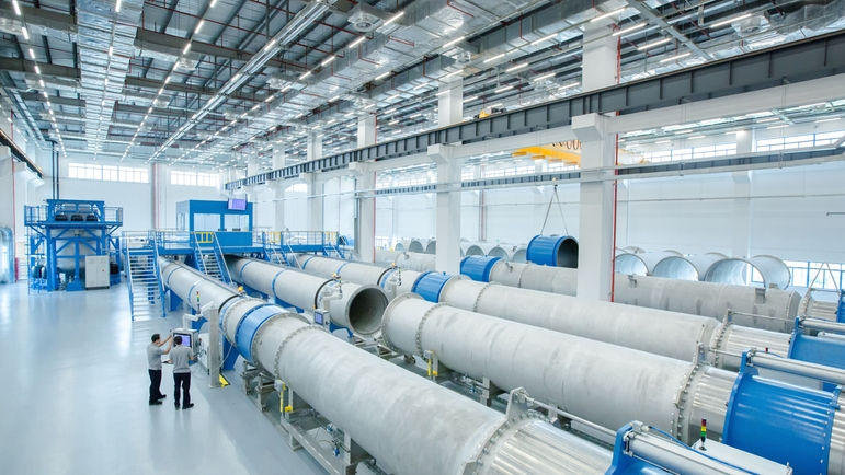 The new plant in Suzhou, China is designed for extremely large instruments with diameters.