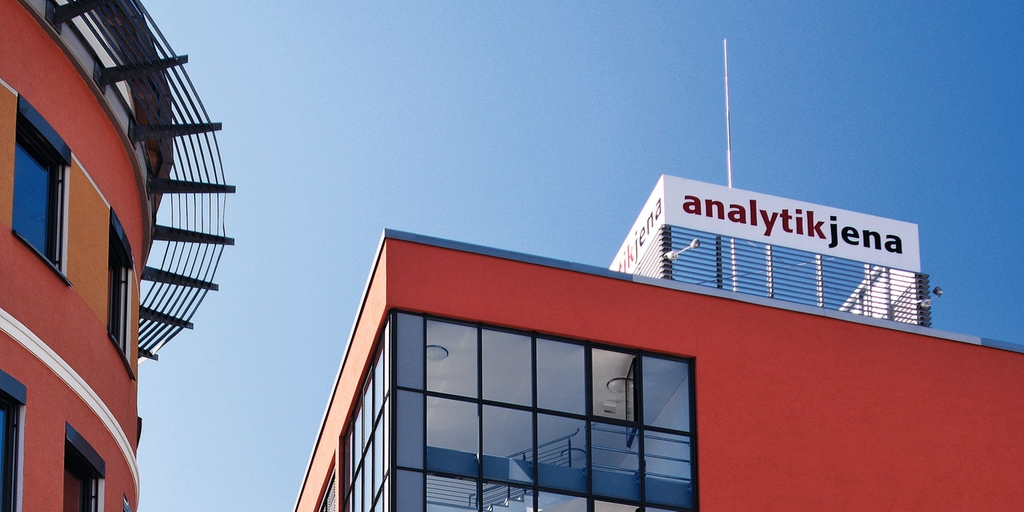 Main building of Analytik Jena in Jena, Germany.